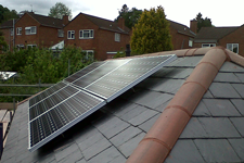 Solar panelling on family home